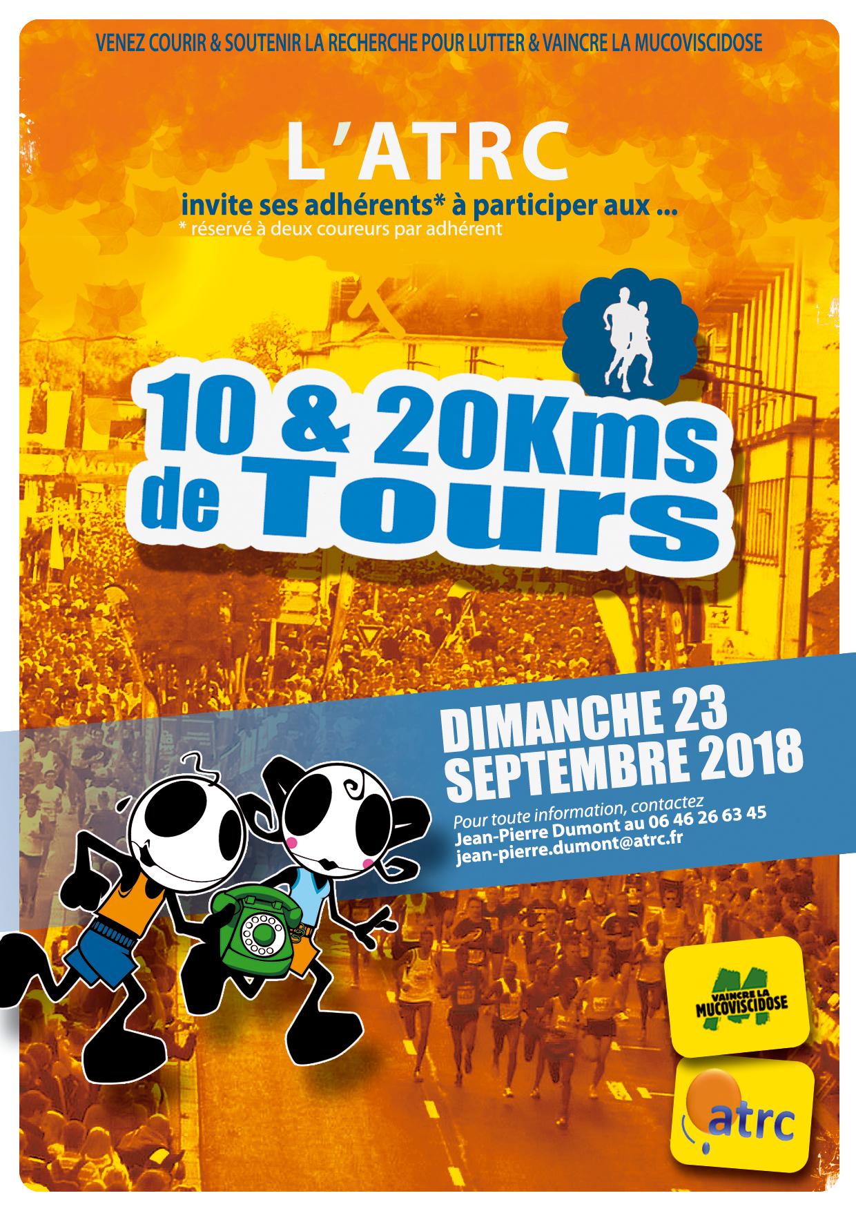 Affiche 10&20kms de Tours ATRC 2018